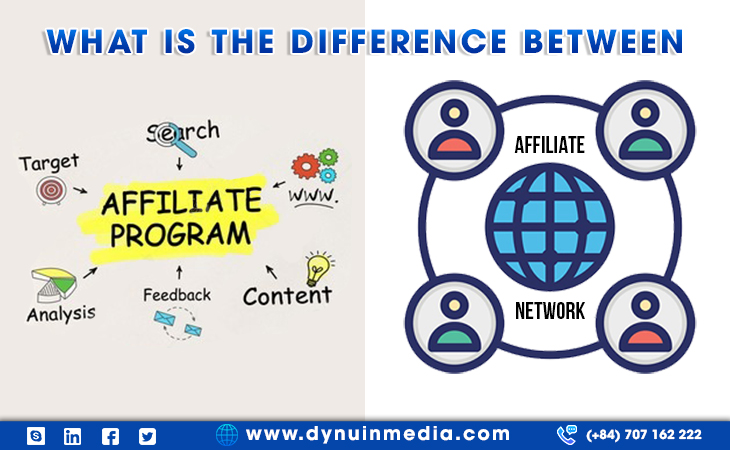What is the difference between Affiliate Program and Affiliate Network?   DYNU IN MEDIA