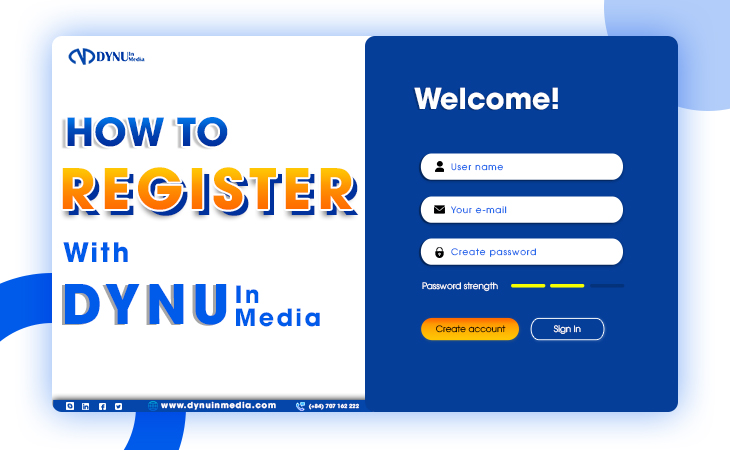 How to register with DYNU IN MEDIA?   DYNU IN MEDIA