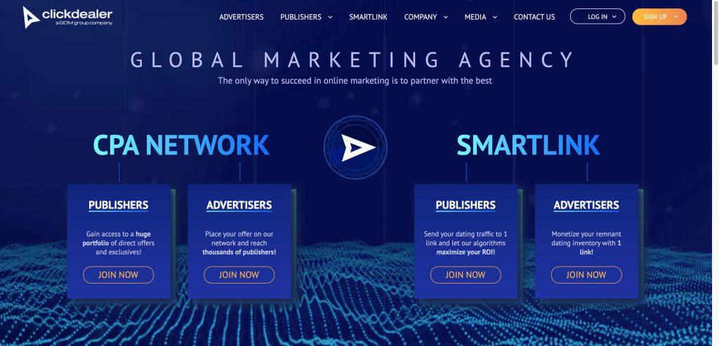 ClickDealer - Best CPA Market Network   DYNU IN MEDIA